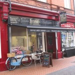 butchers awning red and black