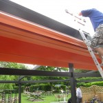 installation of garden shade