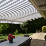 garden shelter cover striped