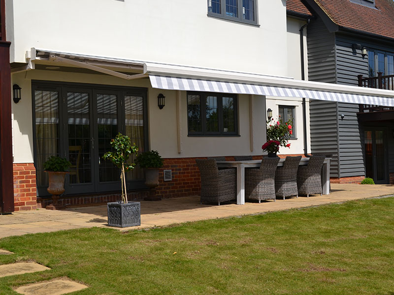 garden awning covering furniture