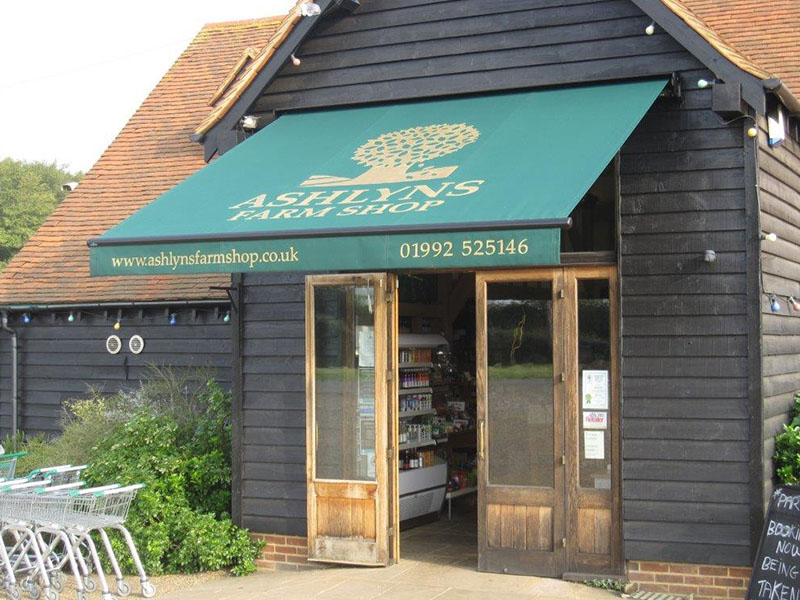 ashlyns farm shop canopy