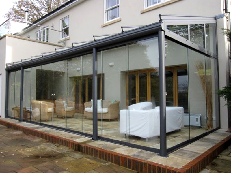 small glass room