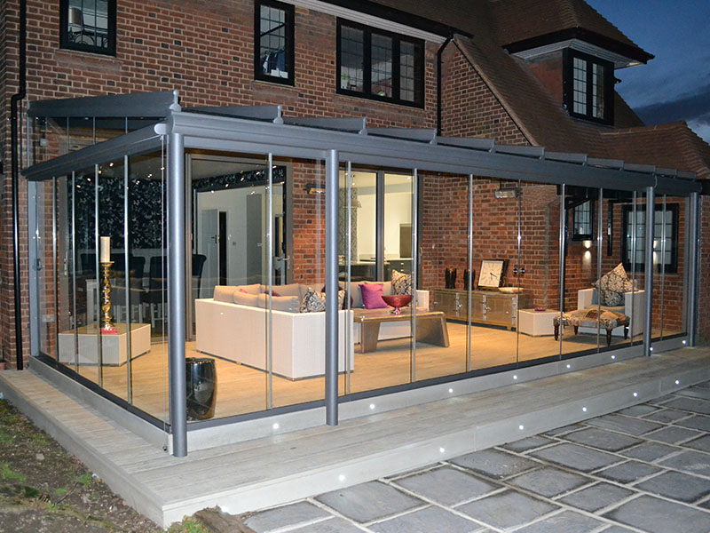 outside view of newly fitted glass room