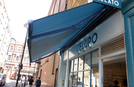 low view of Gelupo awning