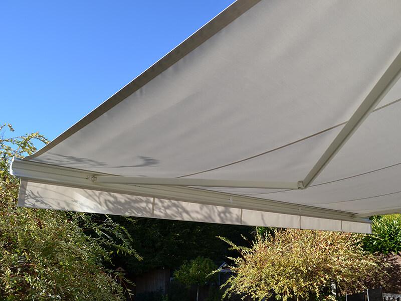 garden awning providing shade