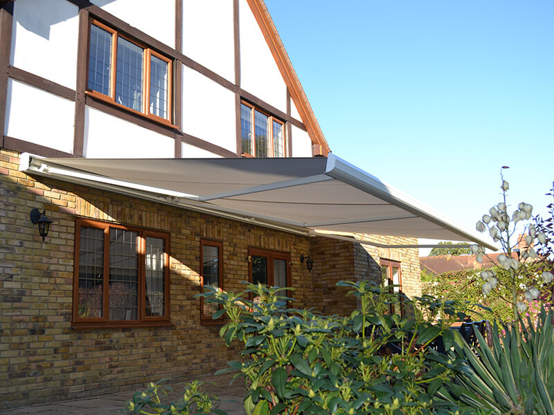 retractable awning installed
