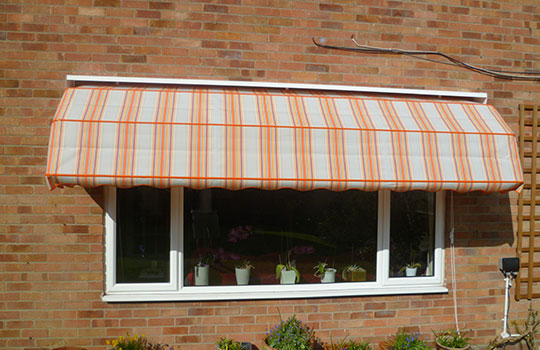 dutch canopy covering window