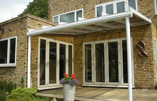 glass roof in garden