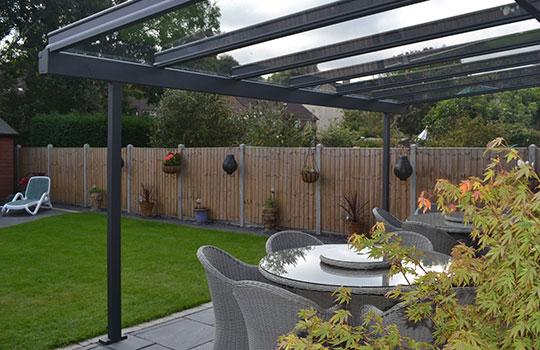 veranda installed in garden