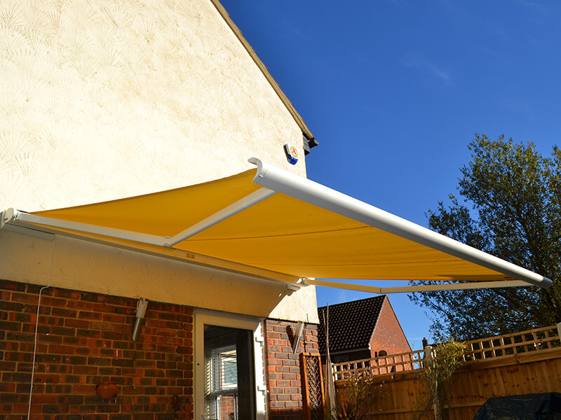 garden awning attached to house